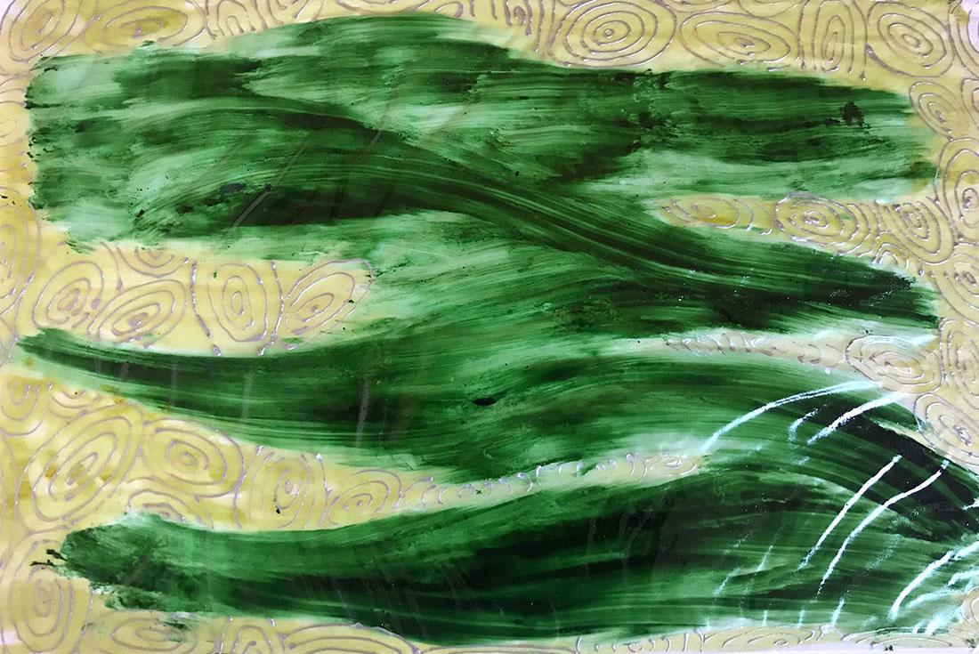 Scie - Smalto per vetro, carta da lucido, cartoncino 33x48 cm
